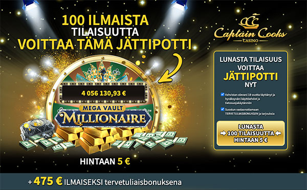 Captain Cooks Casino Suomi
